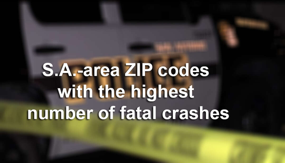 San Antonio-area ZIP codes with the highest number of fatal crashes.