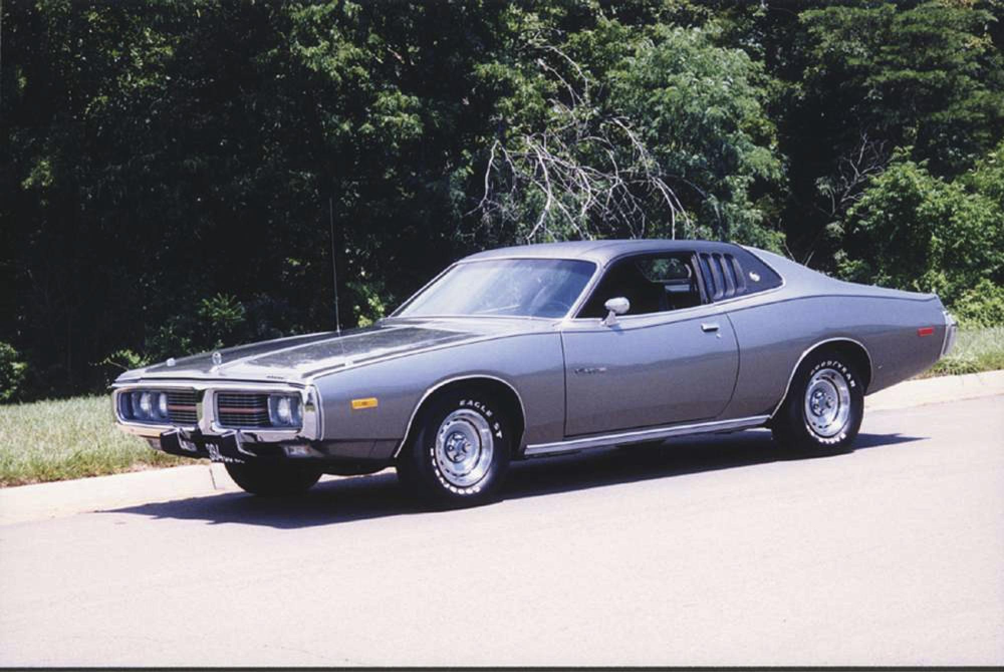 1974 Dodge Charger equipped with big V-8
