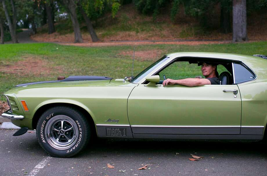 Brian Clark of Novato drives a 1970 Mustang Mach 1 Photo: Photos By Brian Feulner