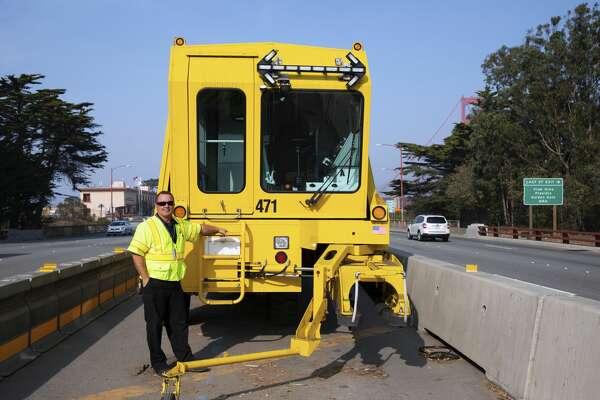 Golden Gate Bridge Zipper Truck operator: Anthony D'Amico