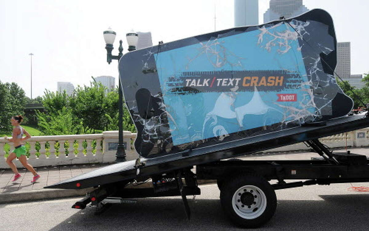 Click through the gallery above to see common distractions Houston drivers see on the road.