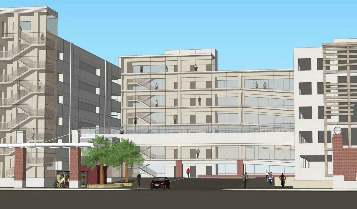 Images from the Connecticut Department of Transportation's Union Street Parking Garage presentation agenda document for November 2018.