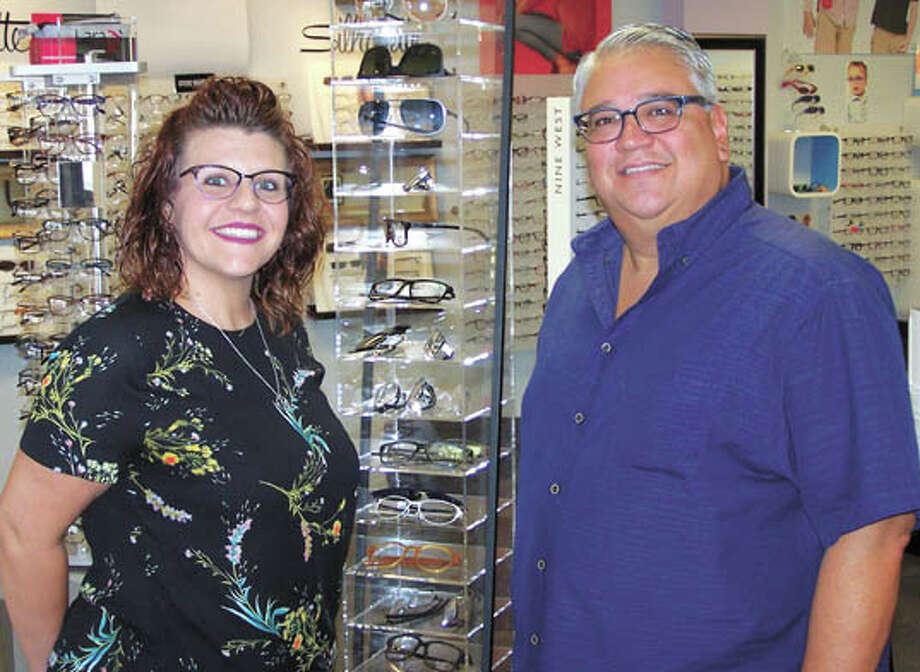 Paul Garza and daughter Shannon can save you up to $600 on progressive  lenses until December 20! Buy two frames, both with Unity Via Elite  progressive lenses, and you'll get the second pair of lenses free!  They're in the Cornerstone Shopping Center at Midland Drive and Loop 250  in Midland. Photo: Paul Wiseman