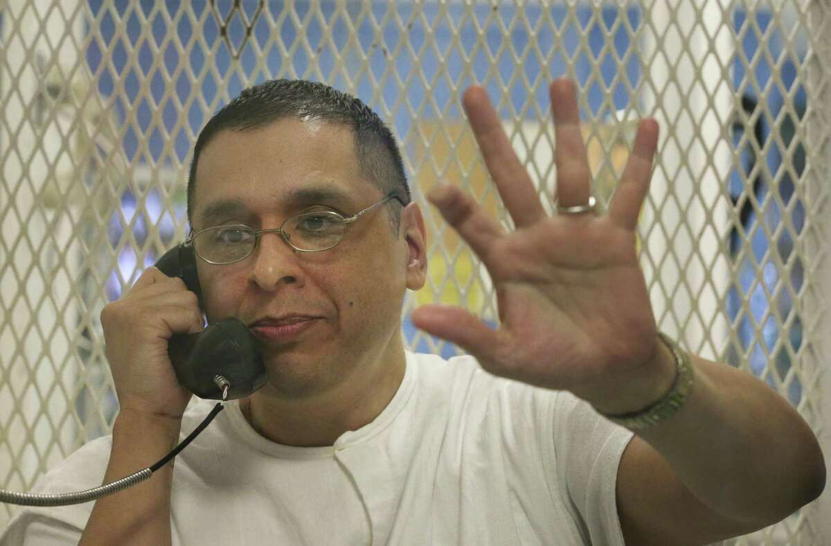 Death row inmate Joseph Garcia is photographed during an interview at Polunsky Unit on Wednesday, Oct. 31, 2018, in Livingston.