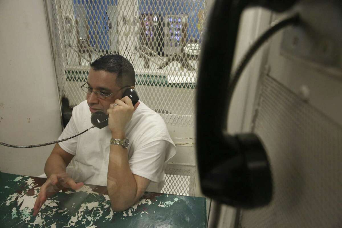 Death row inmate Joseph Garcia is photographed during an interview at Polunksy Unit on Wednesday, Oct. 31, 2018, in Livingston.