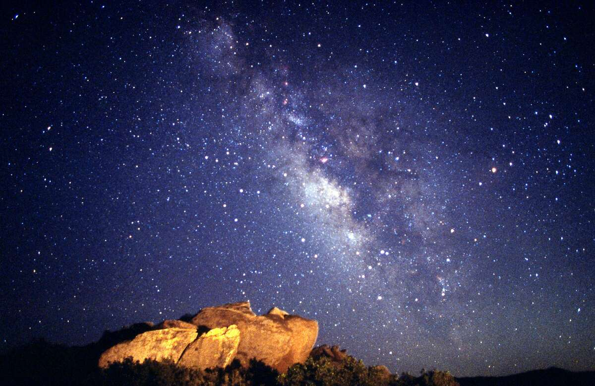 Summertime view of the Milky Way over Anza-Borrego Desert State Park.