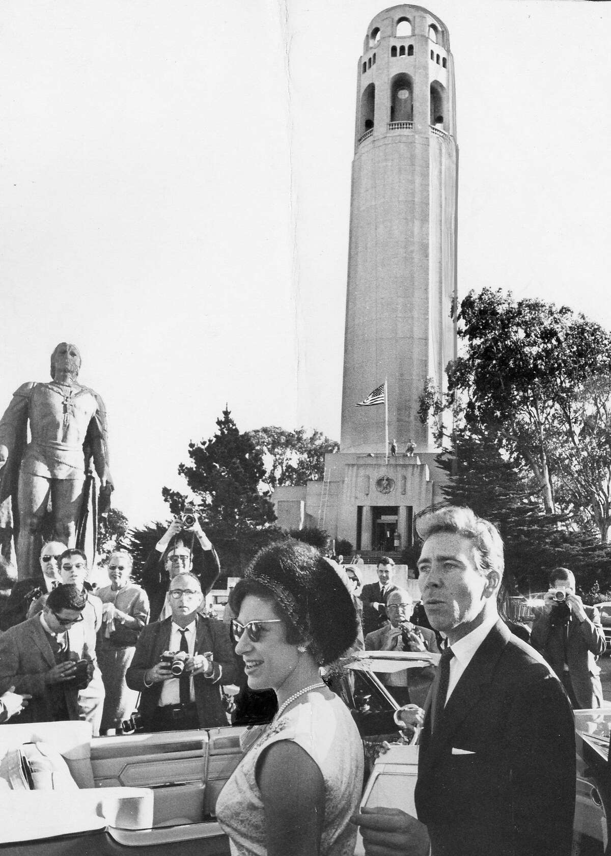 Princess Margaret with Lord Snowdonat Coit Tower, November 5, 1965 United Press International Photo ran 01/02/1966, p. 5 This World