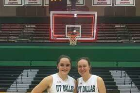 The Woodlands residents Katie Gunther (left, a Concordia Lutheran alumna) and Amber Terry (right, a The Woodlands) alumna, recently helped UT-Dallas to a tournament win in St. Louis.
