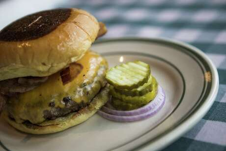 A simple cheeseburger is one of the signature dishes at B.B. Lemon.