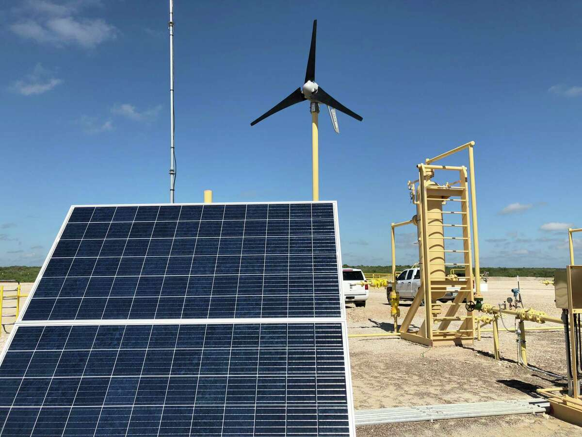 SM Energy uses small solar panels and wind turbines to power the ongoing production of its oil and gas volumes at some of its new wells in South Texas. SM's Eagle Ford shale wells are located closer to the Mexican border than to Catarina, which is the nearest Texas community.