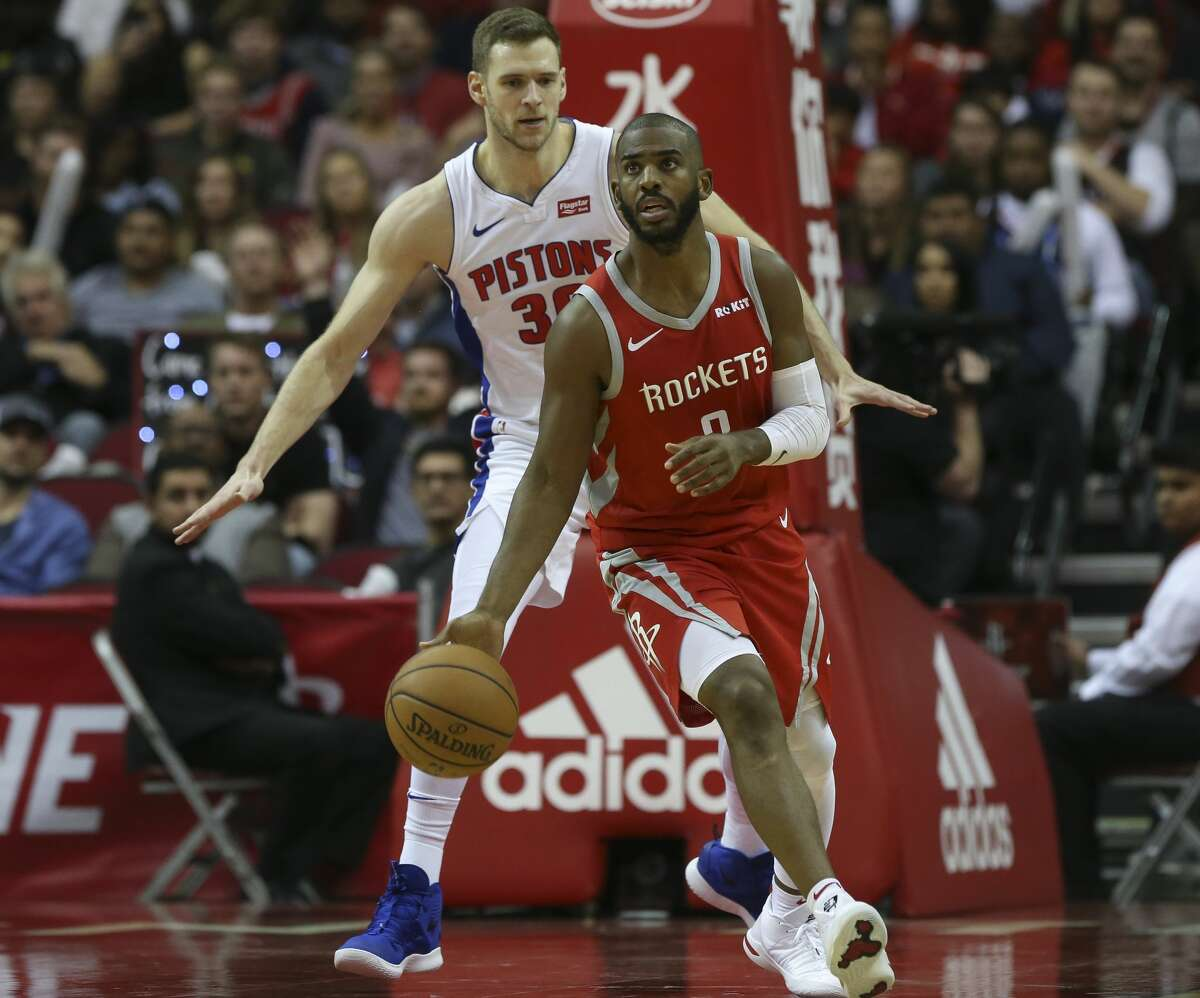 Houston Rockets guard Chris Paul (3) during the third quarter of the NBA game at Toyota Center on Wednesday, Nov. 21, 2018, in Houston.