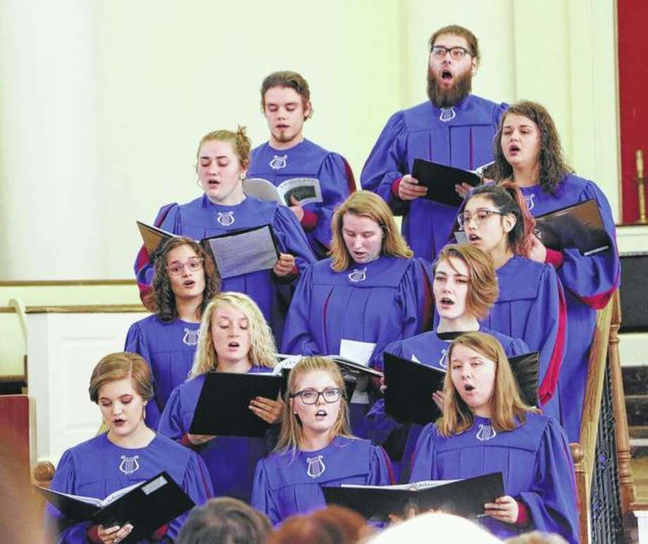 Members of MacMurray College's choir will present the MacMurray College Student Madrigal Dinner on Dec. 8 in McClelland Dining Hall on campus. Photo: Photo Provided