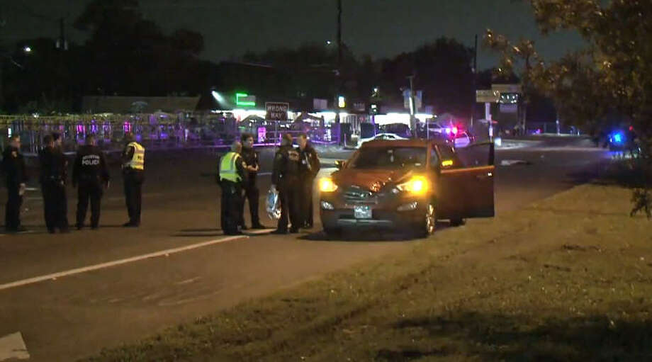A pedestrian was killed Wednesday night while crossing a road in north Houston. Photo: Metro Video
