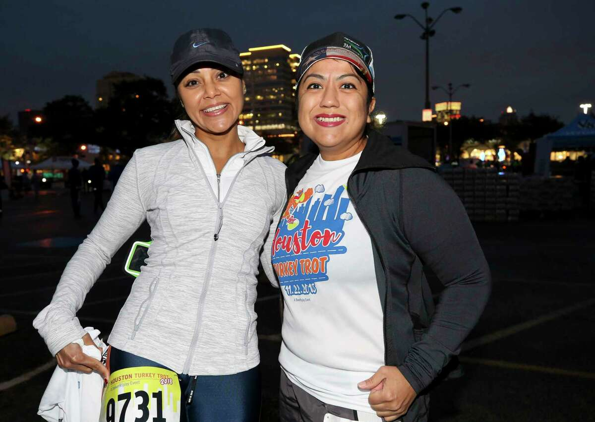 People showed up early to participate in BakerRipley's 26th annual Houston Turkey Trot in the Uptown Galleria area Thursday, Nov. 22, 2018, in Houston.