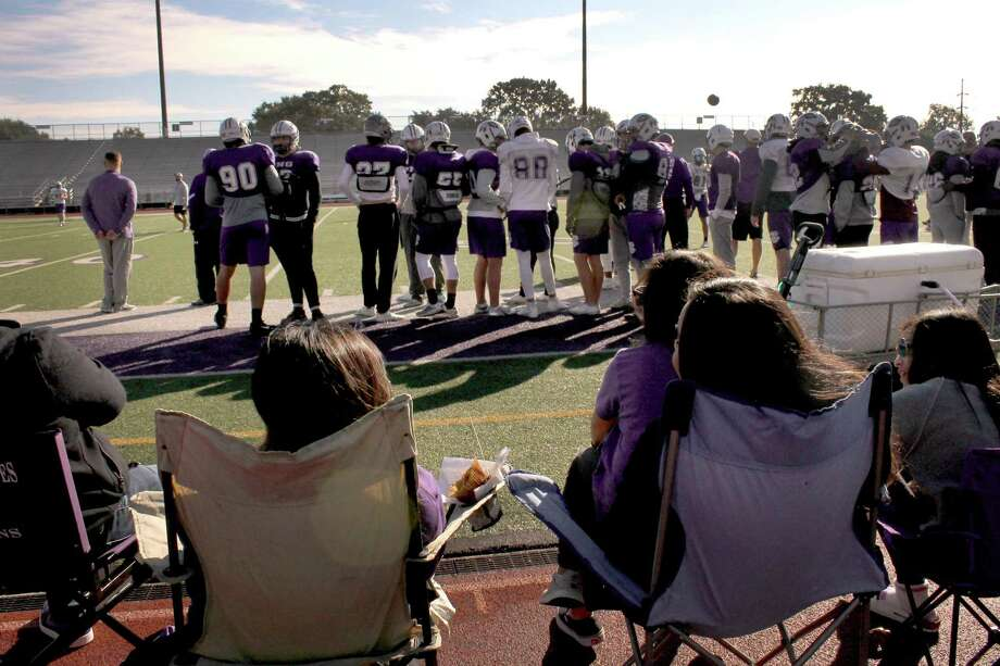Fans take in Port Neches-Groves' annual Thanksgiving morning practice. Photo by Mike Tobias/Special to The Enterprise