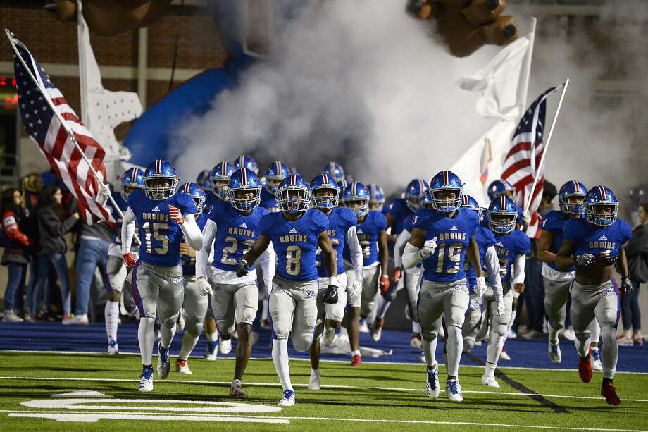 West Brook players take the field before playing against Kingwood in a bi-district playoff game at BISD Memorial Stadium on Friday night.   Photo taken Friday 11/16/18  Ryan Pelham/The Enterprise Photo: Ryan Pelham / The Enterprise / ©2018 The Beaumont Enterprise