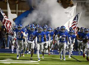 West Brook players take the field before playing against Kingwood in a bi-district playoff game at BISD Memorial Stadium on Friday night.   Photo taken Friday 11/16/18  Ryan Pelham/The Enterprise