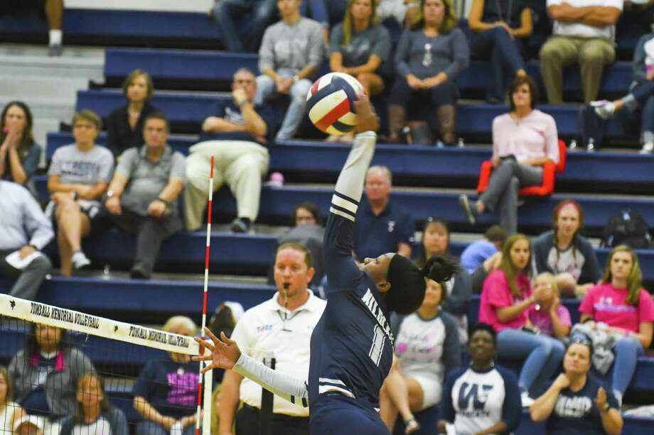 Tomball Memorial senior right side/setter Karli Rose was among 40 players named to the 2018 Texas Girls Coaches Association Class 6A Volleyball All-State Team. Photo: Tony Gaines/ HCN, Photographer