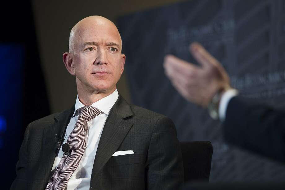 FILE- In this Sept. 13, 2018, file photo Jeff Bezos, Amazon founder and CEO, speaks at The Economic Club of Washington's Milestone Celebration in Washington.  Photo: Cliff Owen, Associated Press