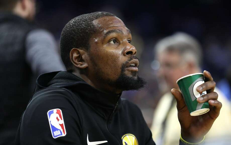 Golden State Warriors' Kevin Durant before 123-95 loss to Oklahoma City Thunder during NBA game at Oracle Arena in Oakland, Calif. on Wednesday, November 21, 2018. Photo: Scott Strazzante, The Chronicle