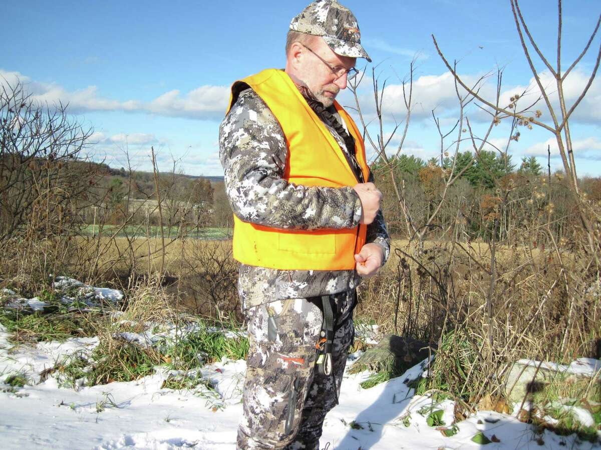 Rob Streeter dons a brightly colored hunting vest. (Rob Streeter)