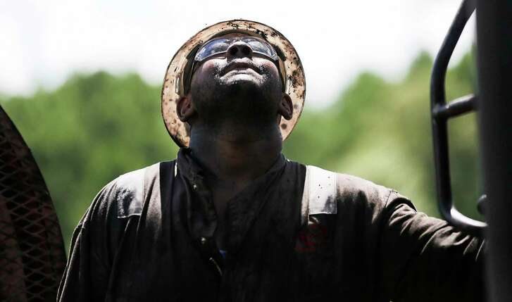 A worker in the Haynesville shale in East Texas. Natural gas production is expected to hit a new record there later this year.