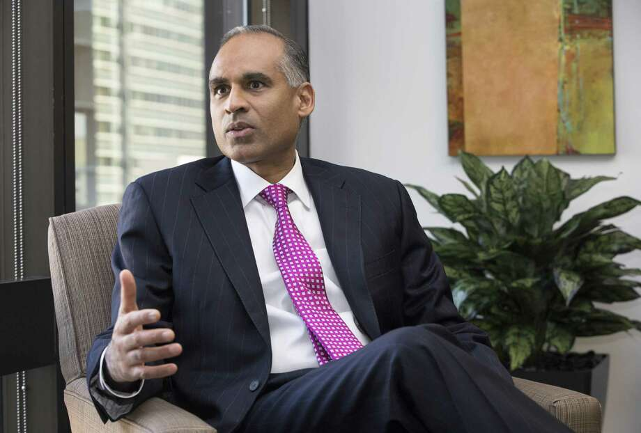 LyondellBasell Industries CEO Bob Patel is shown in a recent interview. NEXT: See recent earnings reports from area energy companies.  Photo: Yi-Chin Lee, Houston Chronicle / Houston Chronicle / © 2017  Houston Chronicle