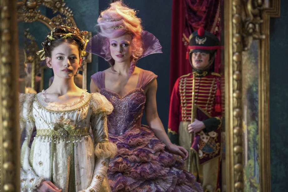 "This image released by Disney shows Mackenzie Foy, left, and Keira Knightley in a scene from ""The Nutcracker and the Four Realms."" Photo: Laurie Sparham / Associated Press / © 2017 Disney Enterprises, Inc. All Rights Reserved.."