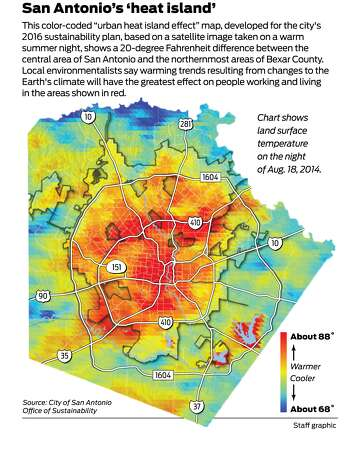 Heat map of San Antonio conveys what\'s at stake in climate plan ...
