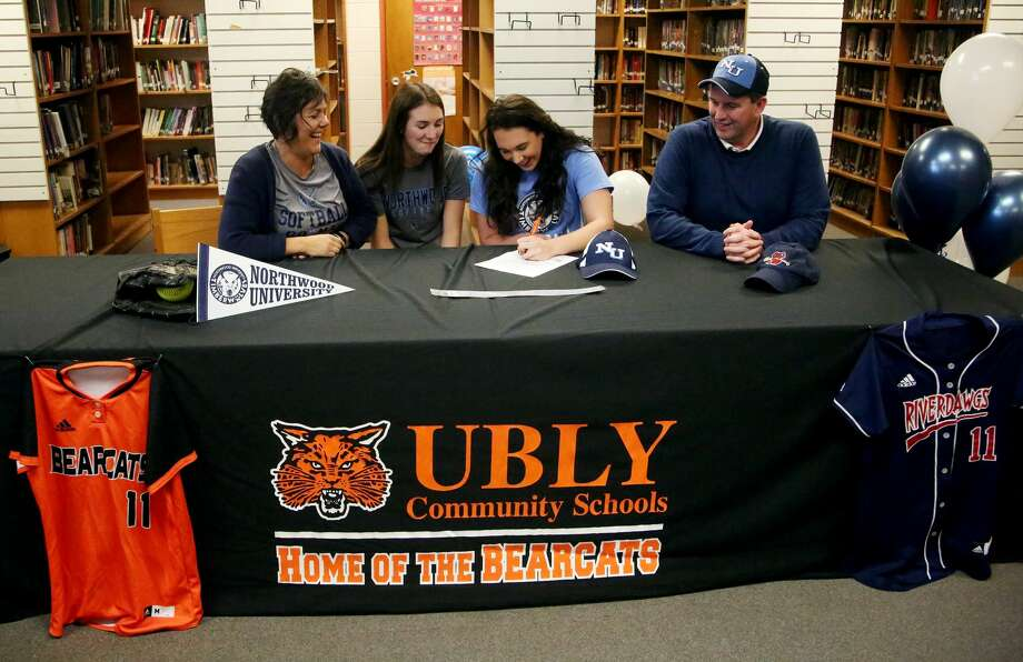 Ubly's Sadie Souva will continue her softball career at Northwood University. Photo: Paul P. Adams/Huron Daily Tribune
