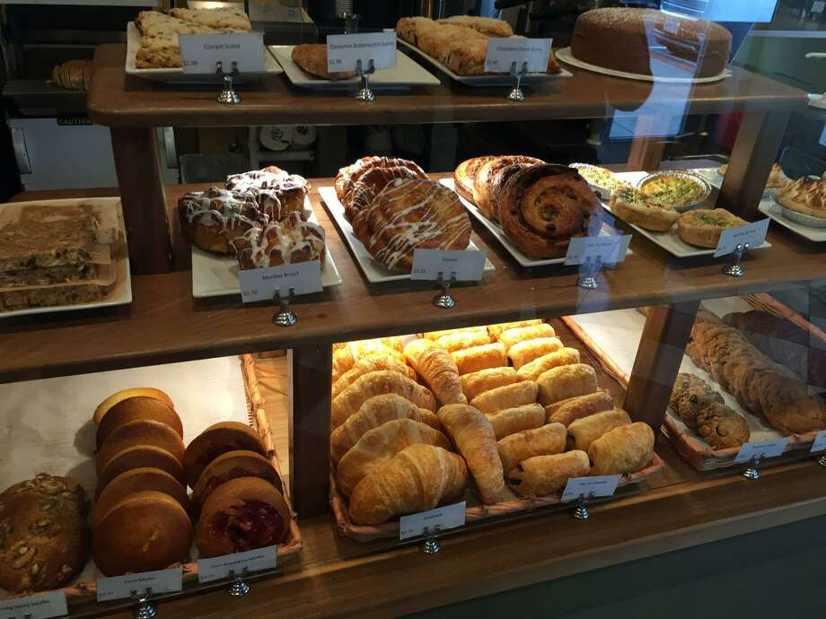 Ross Bread in Ridgefield has a tempting pastry case. Photo: Contributed Photo