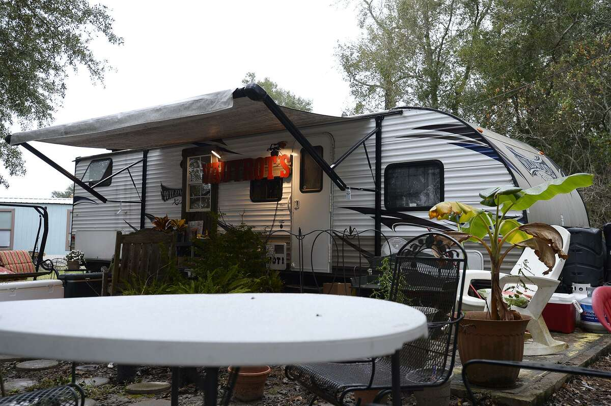 Vautrot's Cajun Cuisine is operating out of an RV while rebuilding after Tropical Storm Harvey destroyed their old building. Photo taken Tuesday 11/13/18 Ryan Pelham/The Enterprise
