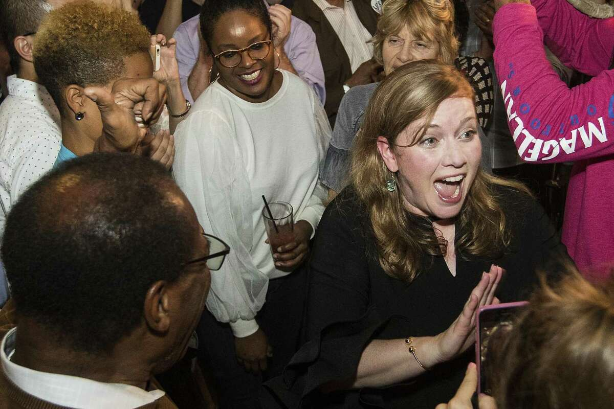 Lizzie Pannill Fletcher, the Democratic candidate for the 7th Congressional District, arrives to her election watch party after she was declared the winner Tuesday, Nov. 6, 2018, in Houston. (Brett Coomer/Houston Chronicle)