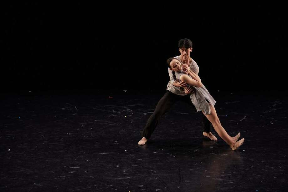 "Houston Ballet Corps de Ballet McKhayla Pettingill and Syvert Lorenz Garcia in Jessica Collado's ""Everything is an Illusion."" Photo: Photo By Claire McAdams / Courtesy Of Houston Ballet"
