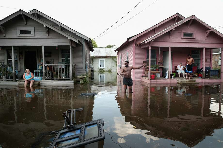 A new federal climate change report says Harvey's rainfall was worsened by climate change. Photo: Scott Olson/Getty Images