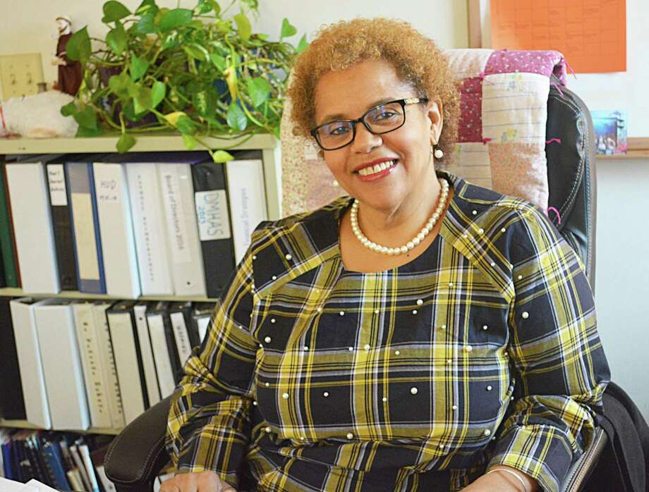Ethel Higgins joined St. Vincent de Paul of Middletown Nov. 5 as executive director. She leads the soup kitchen, Amazing Grace Food Pantry, community assistance and supportive housing programs from the office at 617 Main St. Photo: Cassandra Day / Hearst Media Connecticut