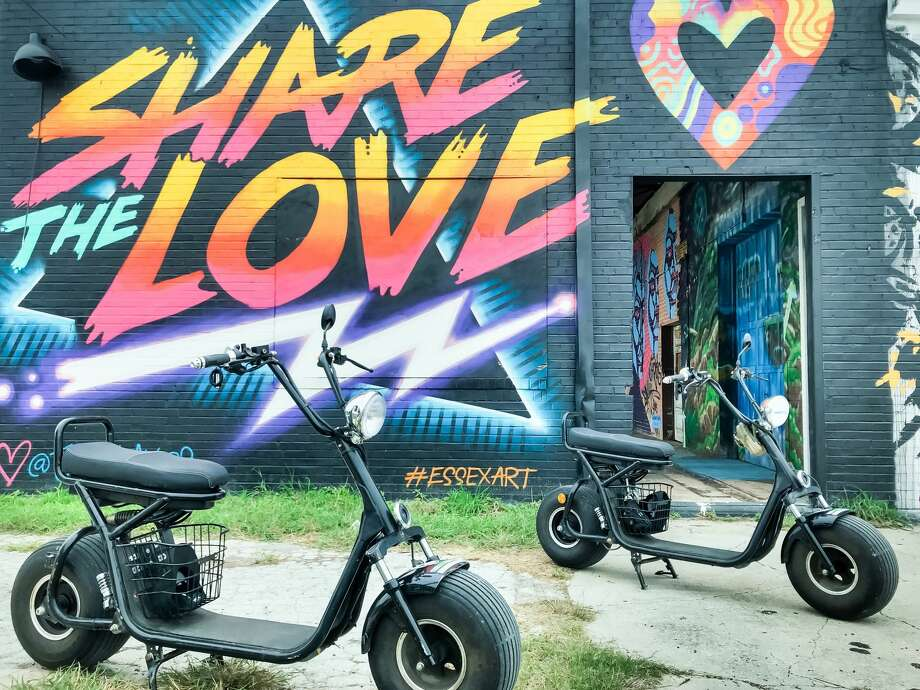 Your Biker Gang, an electric minibike tour company based in Austin, launched in San Antonio Friday. Photo: Courtesy Of Your Biker Gang