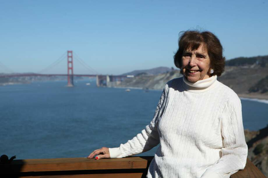 Beverly Coughlin, 93, stands on the balcony of her Sea Cliff home. Coughlin has lived in San Francisco her entire life. We asked her a series of questions about her experience of San Francisco over the years. Keep clicking to read her responses.  Photo: Michelle Robertson/SFGATE