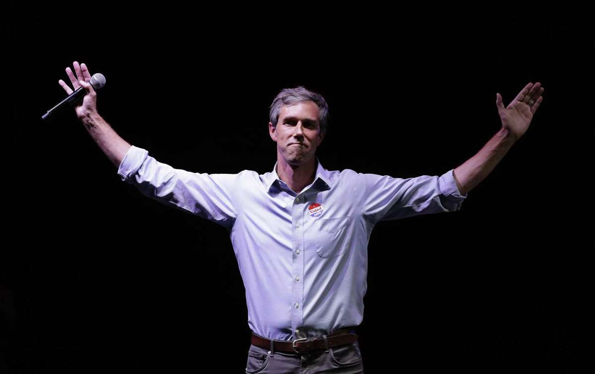 In this Nov. 6, 2018, file photo, Rep. Beto O'Rourke, D-Texas, the 2018 Democratic Candidate for U.S. Senate in Texas, makes his concession speech at his election night party in El Paso.