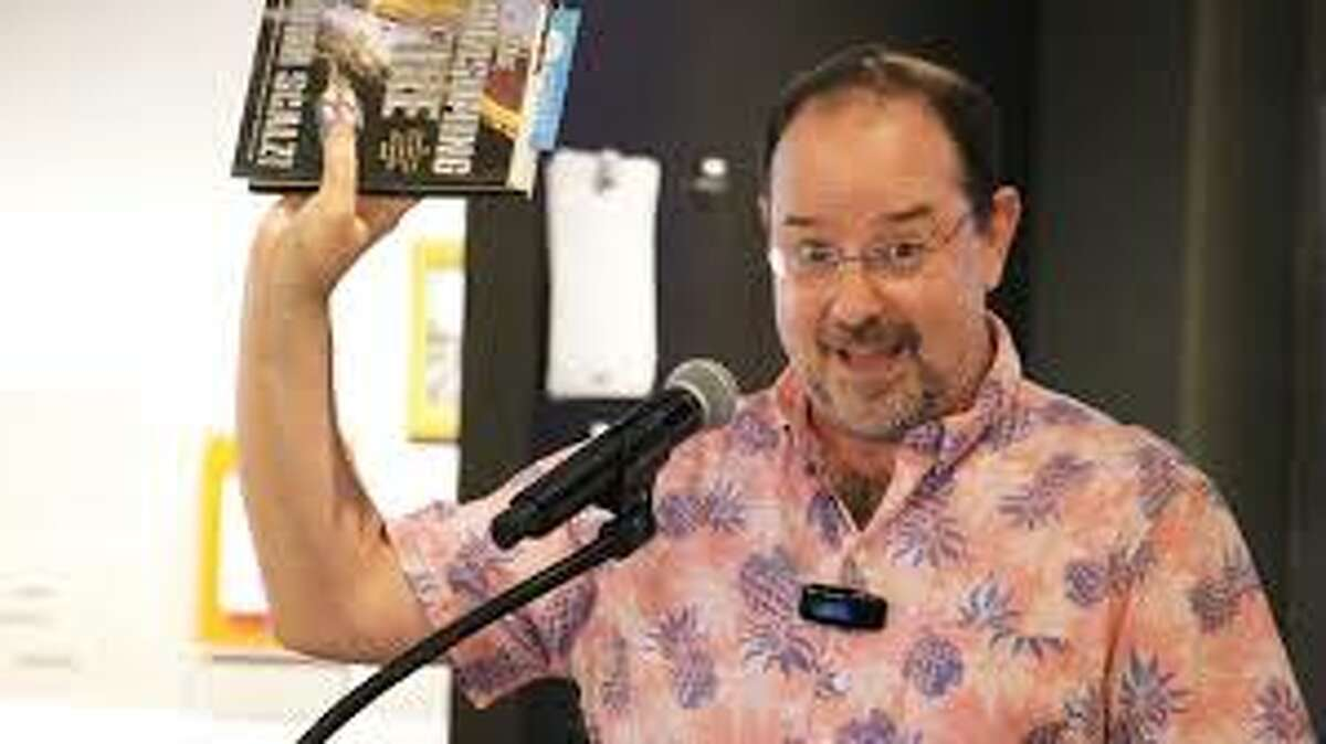 Emily McFarlan Miller / Religion News Service Science-fiction author John Scalzi speaks about his new book,