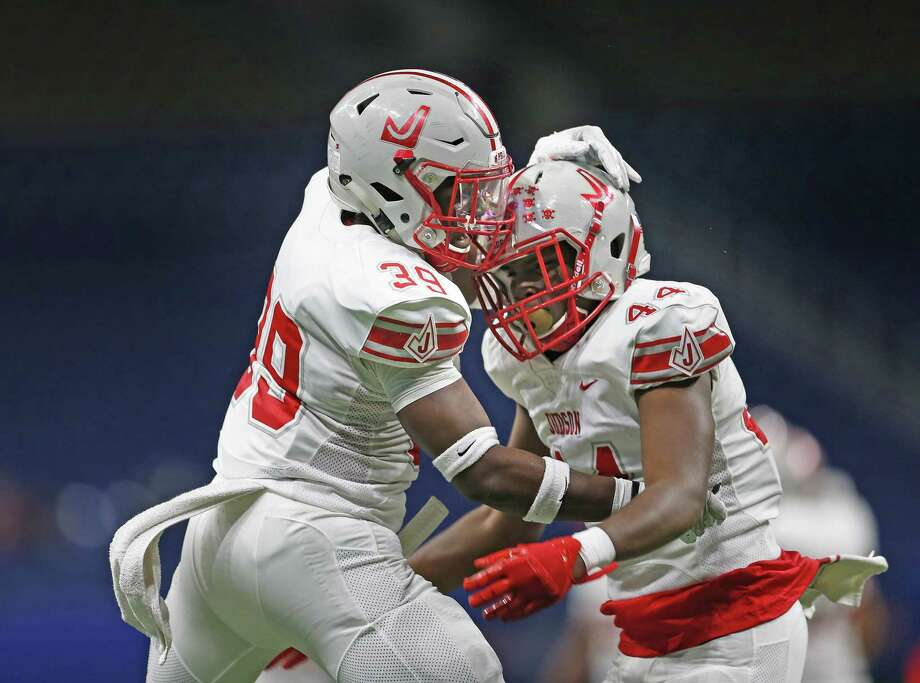 Judson's Rashad Wisdom, left and Donnie Moody, are set to face Austin Lake Travis in the Region IV-6A Division I final. Photo: Ronald Cortes /Contributor / / 2018 Ronald Cortes