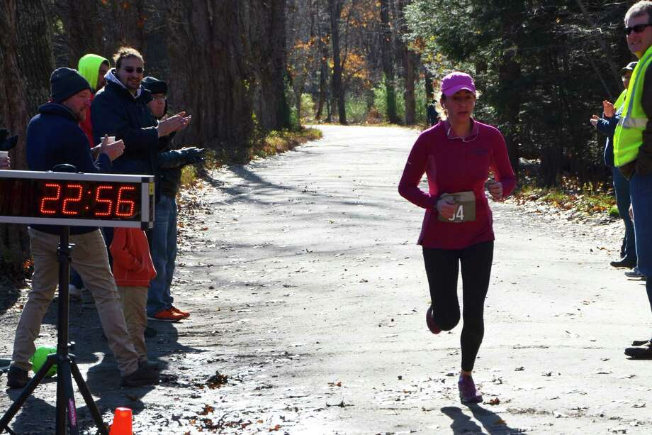 Anna Kallman easily earned first female finisher with a time of 22:56. Photo: Contributed Photo /