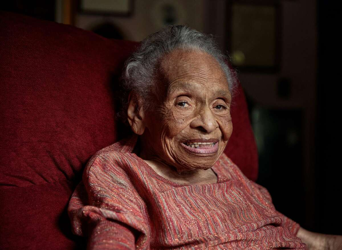 Olivia Hooker at home in White Plains, N.Y., Sept. 14, 2018. Hooker, who after surviving a race-related attack on a black section of Tulsa, Oklahoma, in 1921 went on to become the first black woman to enlist in the Coast Guard and a distinguished psychology professor at Fordham University, died on Wednesday, November 21, 2018, at her home in White Plains, New York. She was 103. (Damon Winter/The New York Times)