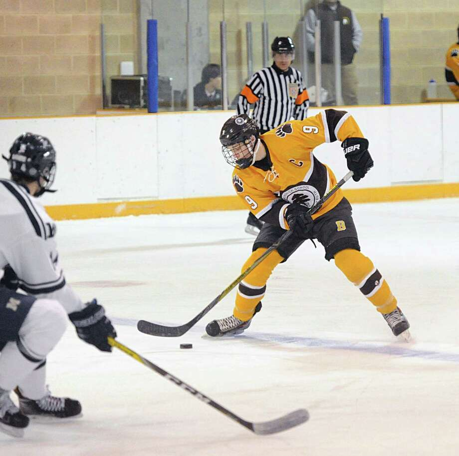 Former Brunswick School player Ryan Carmichael, a Greenwich native, signed a National Letter of Intent last week to play hockey at the University of Notre Dame. Photo: Bob Luckey Jr. / Hearst Connecticut Media / Greenwich Time