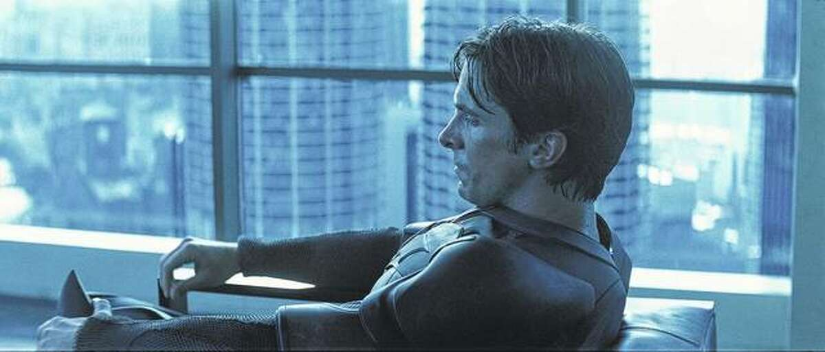 """In """"The Dark Knight,"""" Christian Bale stars as Bruce Wayne, who has a penthouse overlooking the twin buildings of Chicago's Marina City."""