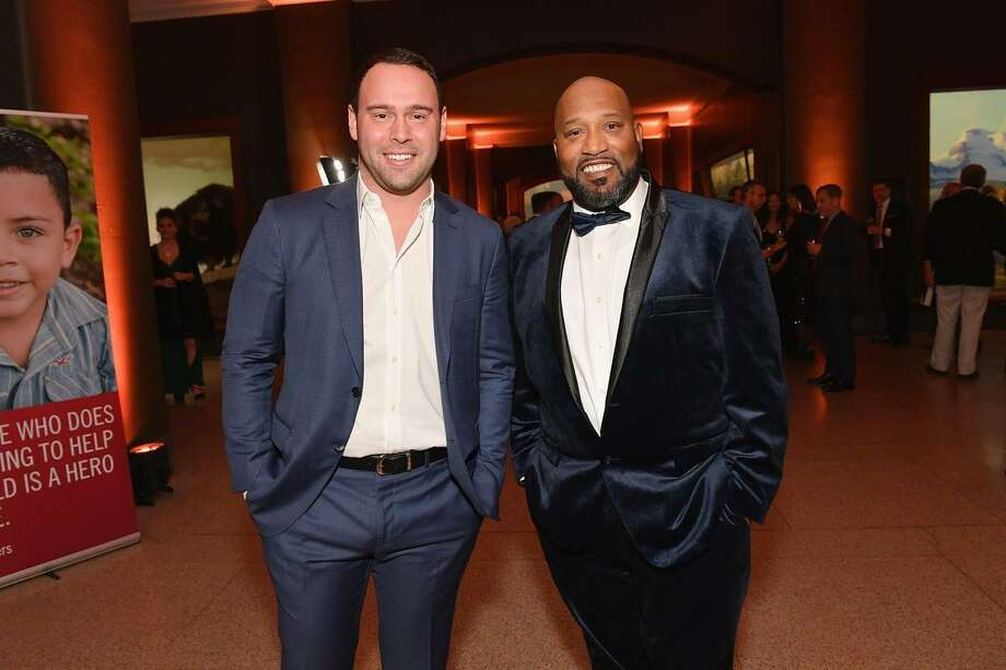 Greenwich native Scott 'Scooter' Braun, left, and Bun B attend Save the Children's sixth annual Illumination Gala at the American Museum of Natural History on Nov. 14 in New York City. Photo: Photo By Dia Dipasupil / Getty Images For Save The Children / 2018 Getty Images