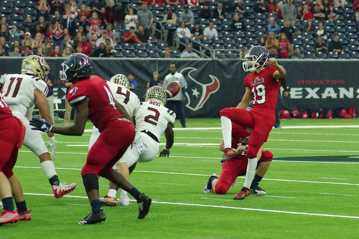 A field goal that would give Clear Lake the lead over Summer Creek is blocked late in the fourth quarter Saturday, Nov. 24 at NRG Stadium