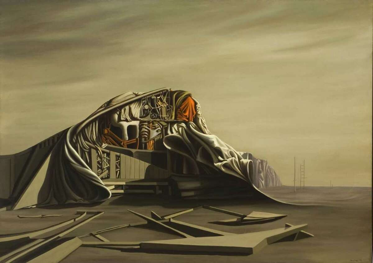 """Kay Sage """"The Instant"""" 1949 oil on canvas"""