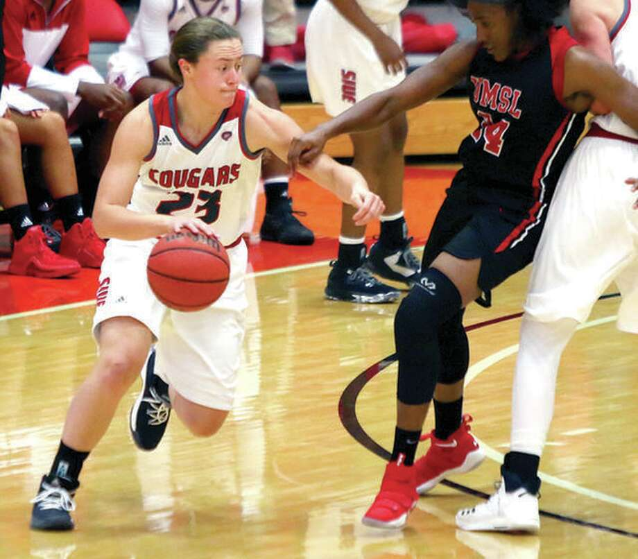SIUE's Allie Troeckler, a sophomore from Civic Memorial, scored 16 points and had 12 rebounds in her team's 67-49 victory over Purdue Fort Wayne Saturday in Fort Wayne, Ind. Photo: SIUE Athletics