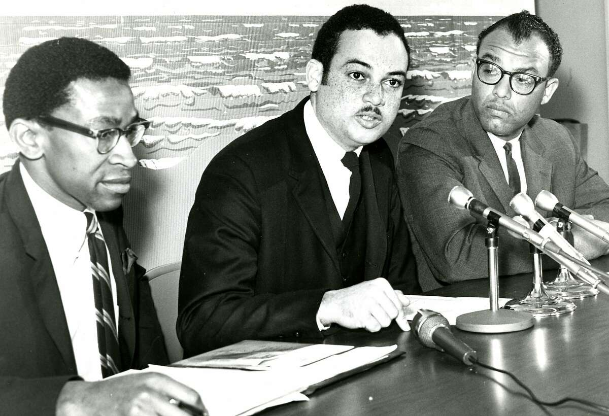 Longtime Bay Area TV anchor and radio host Ray Taliaferro, when he was an NAACP Central City president. Match 6, 1967.